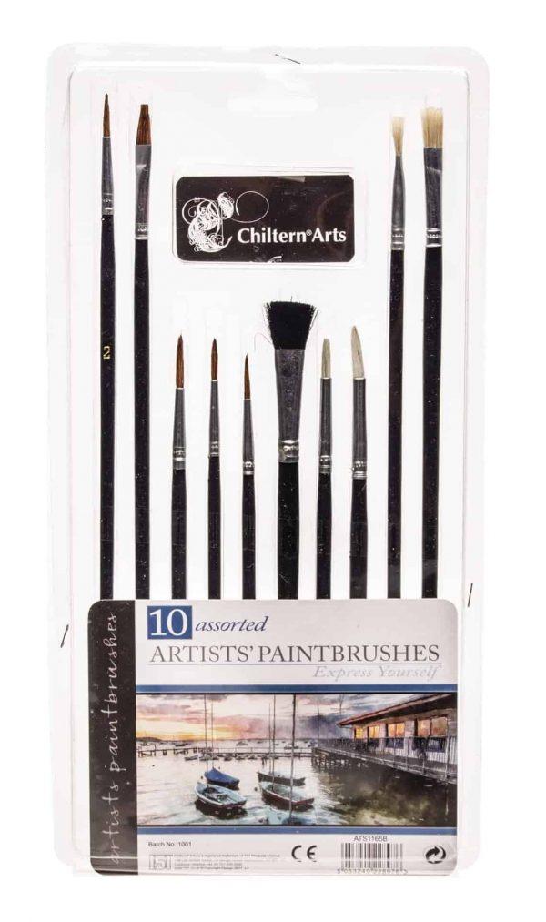 10pk artist paintbrushes