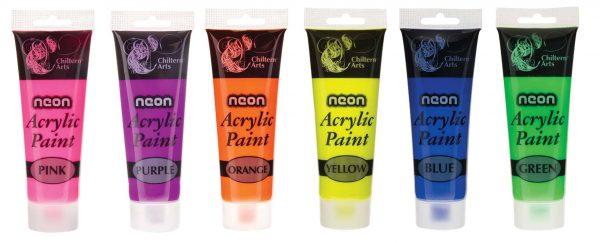 120ml assorted single tubes neon acrylic paint