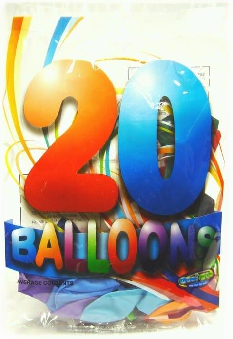 20pk coloured balloons 1.49