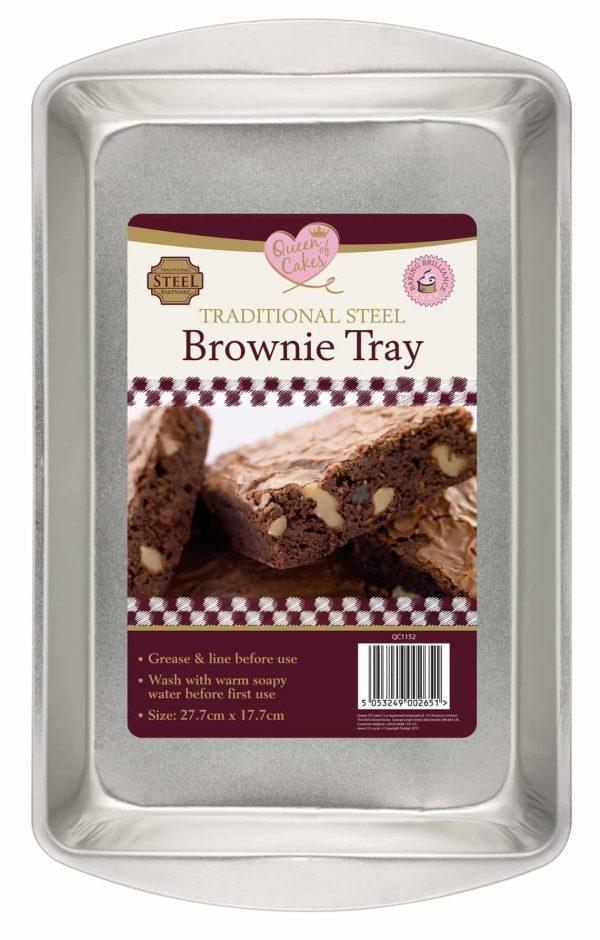 27.7cm x 17.7cm brownie tray