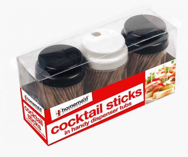 3pcs cocktail sticks in dispensers