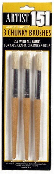 3pk chunky artist brushes 1.59