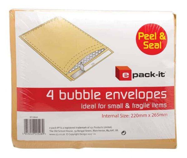 4pk bubble envelopes