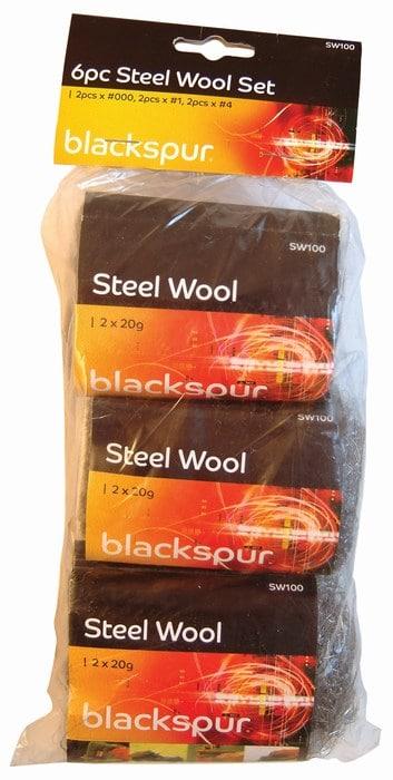 6pcs steel heavy duty wool