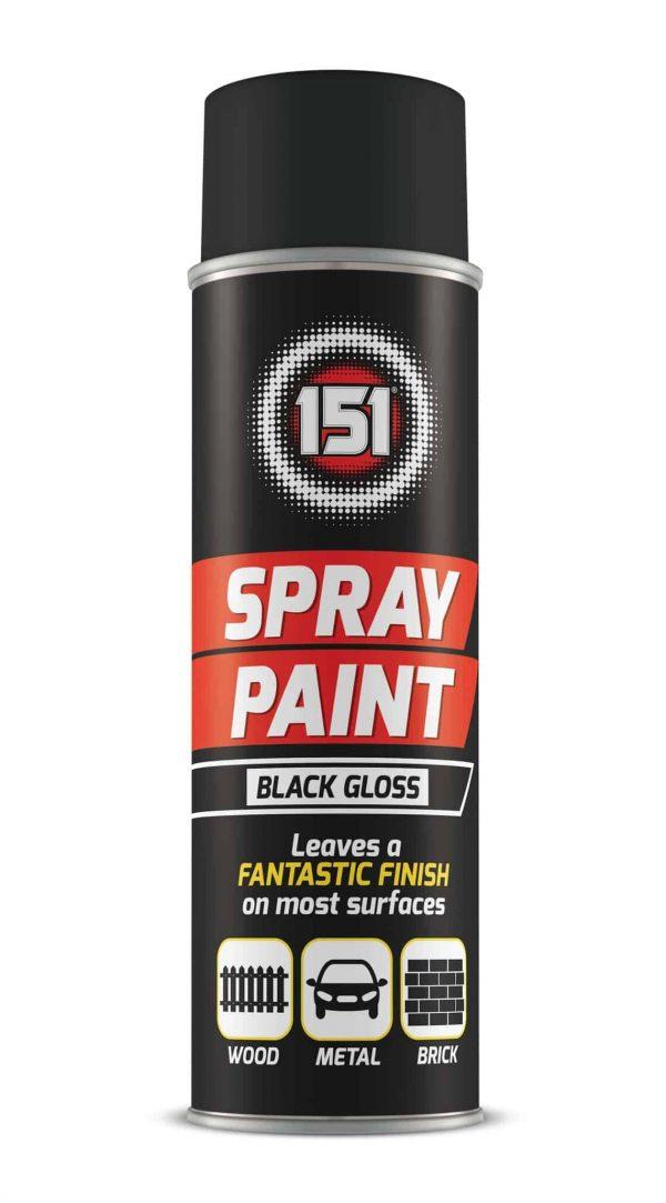 black gloss spray paint