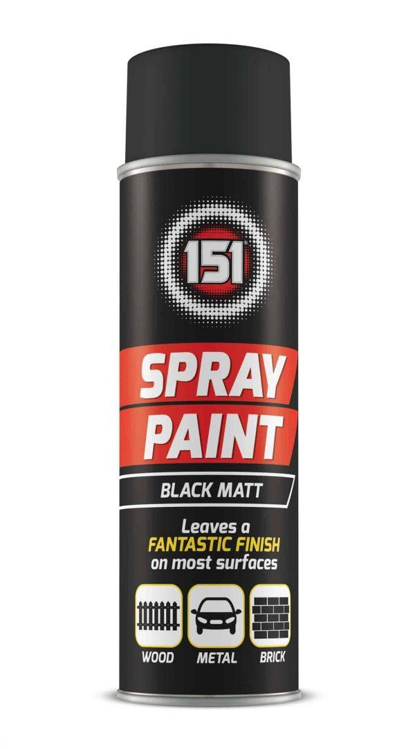black matt spray paint