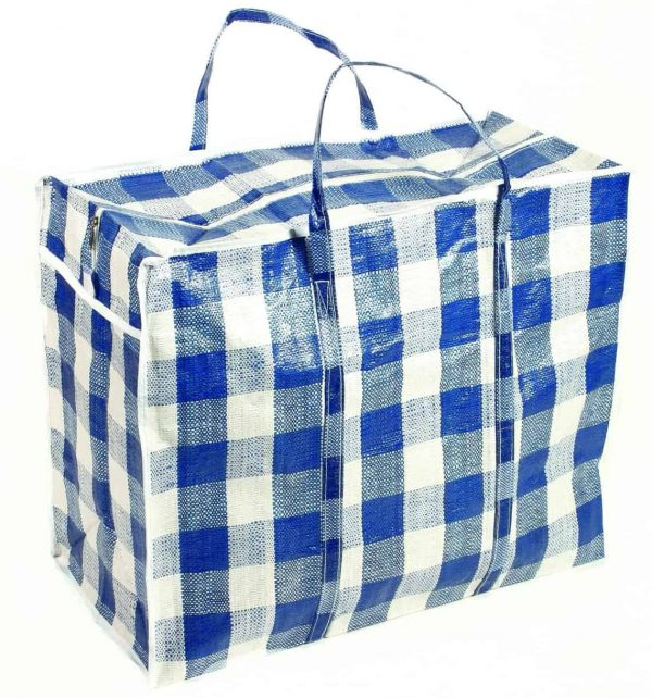 Large checked shopper