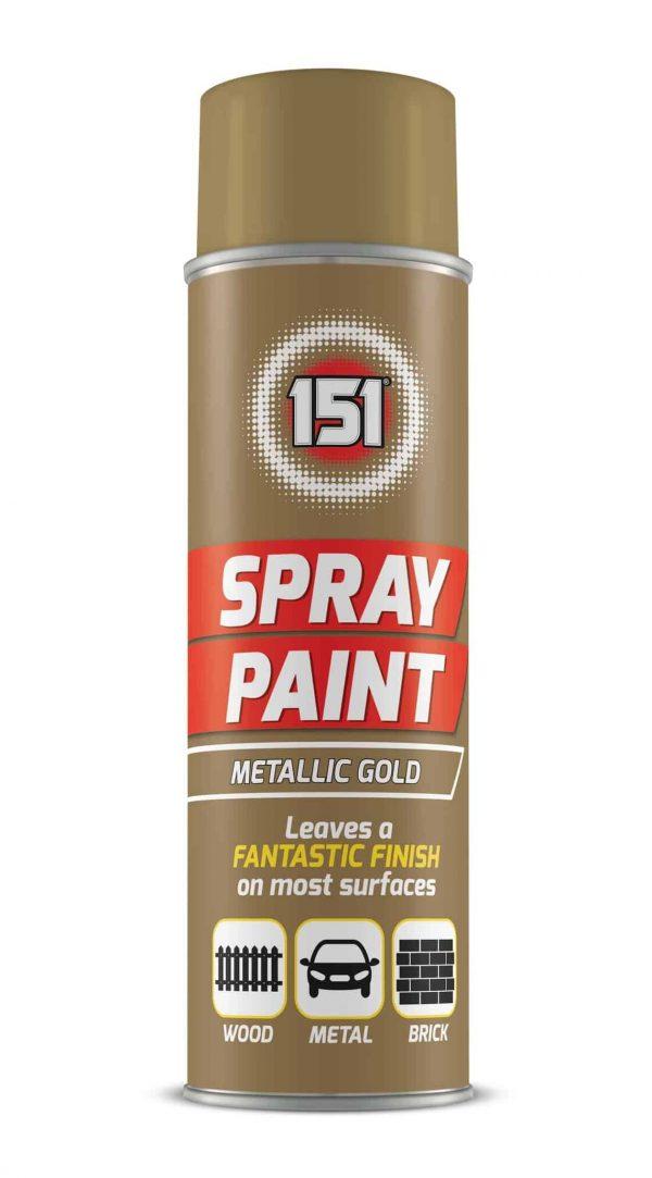 metallic gold spray paint