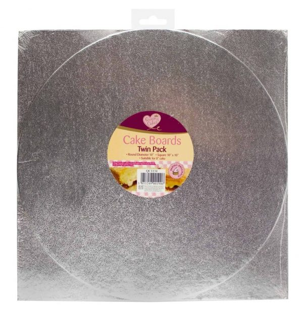 Twin pack 10inch cake boards