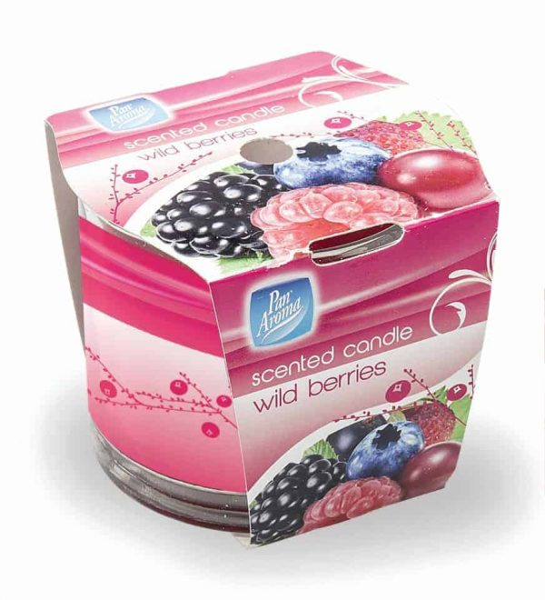wild berries wrap candle